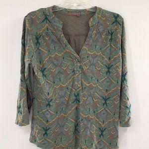 Fresh produce Henley blouse A-1